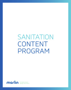 Sanitation Program