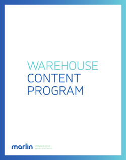 Warehouse Program